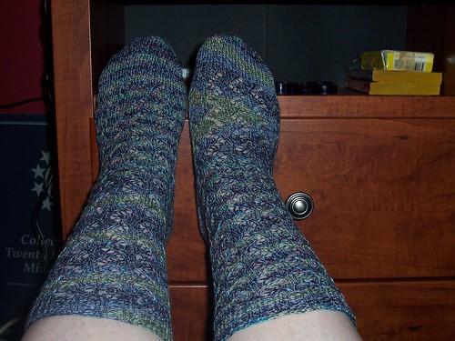 Crosshatch Lace Socks