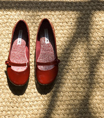 Lazy Sunday (Davey S) Tags: lighting shadow red matt shoes shadows dress natural sunday illumination simplicity casual simple