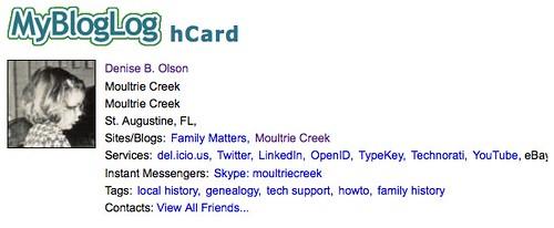 Echantillon hCard