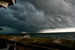 Storm clouds (lex123) Tags: ocean new storm beach water clouds surf waves seagull nj lbi shore be there jersey brewin