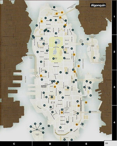 gta iv map. GTA IV Pigeons Map (Algonquin)