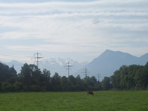 Another view of the snow topped mountains of the Bernese Oberland