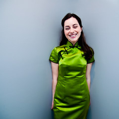 qiPAO! (Diana Pappas) Tags: wedding green smile bride alice chinese silk happiness weddingday qipao myoldestfriend