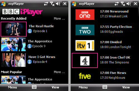BBC iPlayer and Live TV streams