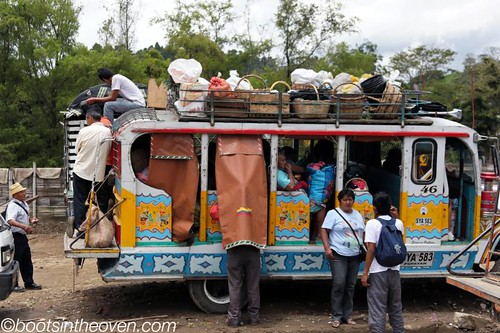 Loading up a bus after market visit