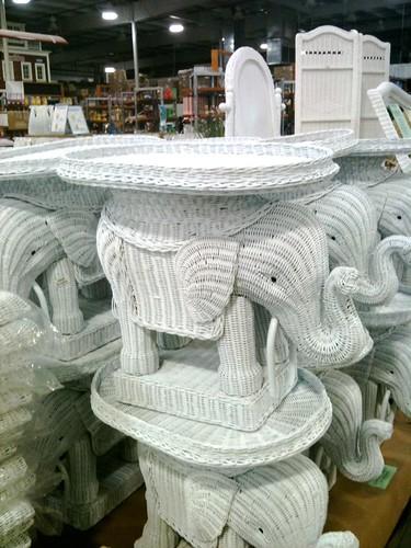 Yellow Chair, TJ Maxx Elephant Table, Oops!