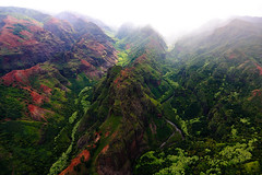 Waimea Canyon River Running from the Clouds (John Petrick) Tags: colors clouds landscape hawaii tour canyon aerial helicopter kauai waimea mauna waimeacanyon loa d90 hawaiivacation kauaihawaii waimeariver hawaiilandscape kauaivacation grandcanyonofthepacific kauailandscape waimeacanyonkauai kauaihelicopter kauaiwaimeacanyon tokina1116mm maunaloatour hawaiicolors kauaihelicoptertour waimeacanyonhelicoptertour waimeakauaihelicopter kauaidoorsoffhelicoptertour aerialwaimeacanyon waimeaclouds