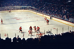 Bob Kelly at Olympia (Mr. History) Tags: philadelphia hockey detroit olympia flyers redwings detroitredwings philadelphiaflyers olympiaarena