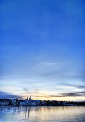 Blue Skies of Iceland (Stuck in Customs) Tags: pictures lighting blue light sunset sky panorama art texture ice church colors lines modern composition sunrise work reflections painting photography iceland intense pond nikon perfect exposure shoot artist mood photographer shot angle photos unique background details perspective blues atmosphere images best reykjavik edge processing pro framing icy capture tones hdr masterpiece treatment mostviewed highquality stuckincustoms treyratcliff thebestvivid