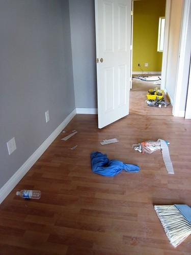 project DOMO : master bedroom flooring / 2nd story flooring