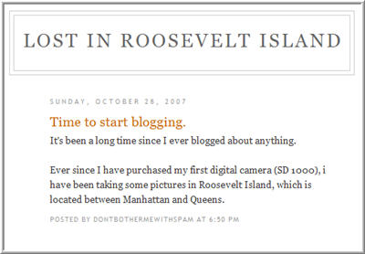New blog - lost in RI