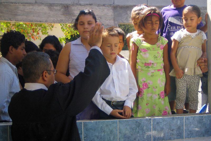Children during Prayer