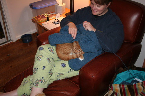 Yep, he still likes the knitting