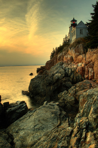 Sunset, Bass Harbor Light House