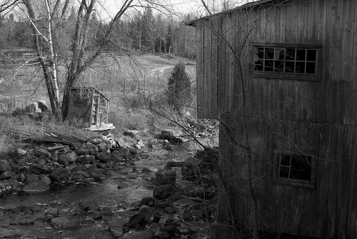 sawmill and stream