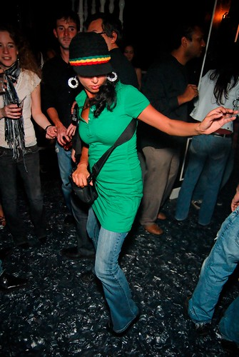Groovin' to the music