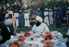 Oman in the seventies (Chris Kutschera) Tags: garden guard reception oman sultanate sultanqabus