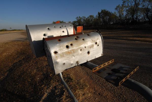 Bullet Hole Mailbox