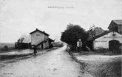 La gare d'Orgelet dans les années 1920