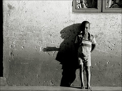 Hello Stranger (gunnisal) Tags: africa street portrait people bw boys child faces mozambique olympuse500 35faves favekids