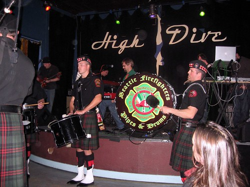 show seattle music drum brush firefighters highdive bagpipe