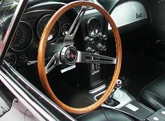'66 Vette Cockpit (Dusty_73) Tags: auto classic chevrolet car wheel vintage automobile steering interior chevy fresno corvette vette