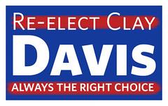Reelect Clay Davis