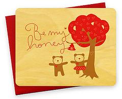 be my honey (here gallery) Tags: valentine letterpress heregallery valentinescard woodenpostcard letterpressprint