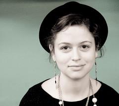 Stare (estenh) Tags: portrait classic girl hat canon vintage rebel columbia missouri indie 1750 highkey tamron tone f28 xti
