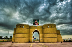 Welcome to Jeddah - HDR (Ageel) Tags: road street sky history clouds d50 photography nikon gate king entrance royal kingdom 1855mm jeddah saudiarabia hdr  abdulaziz    nikor jiddah   5xp   ageel