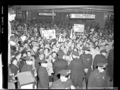 Pro-Castro crowd - Penn Station - 1959 by PRI's The World