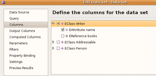 Edit the Columns for reporting.