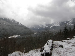 Views from snowless trail nearing McClellan Butte trail junction. (bikejr) Tags: ironhorse johnwayne
