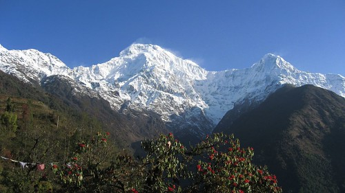 Annapurna South as seen from Chomrung