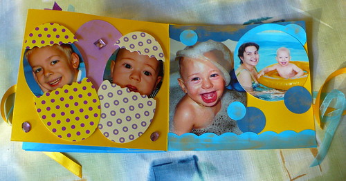 A quick scrapbook for the grandparens.