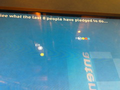 Pledge visualisation (Frankie Roberto) Tags: work exhibition sciencemuseum visualisation doesflyingcosttheearthexhibition