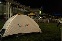 camping at the GooglePlex