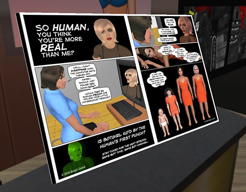 Botgirl vs. Human comic book available for inworld reading