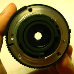 50mm f/8 lens rear
