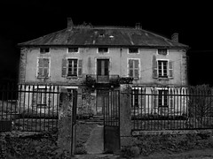 428 Black House (Nebojsa Mladjenovic) Tags: light bw house mist black france art architecture digital outdoors lumix panasonic maison bourgogne vilage onblack fz50 kuca svetlost aplusphoto platinumheartaward mladjenovic