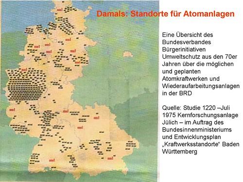Geplante Atomkraftwerke 1970
