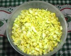 Huevos picados para los tamales
