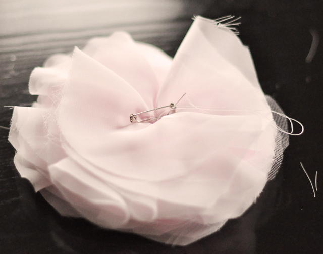 DIY Chiffon Flower French Pouf -7