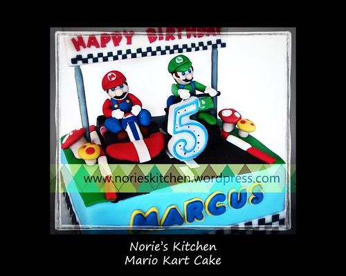 Norie's Kitchen - Mario Kart Cake - Mario and Luigi