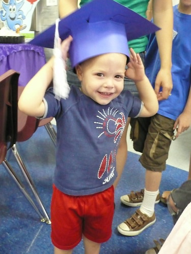 At Max's Kinder graduation