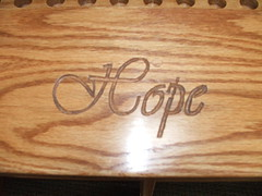 Carving in Kneeler (givens_mab) Tags: chapel estates pulliam givens