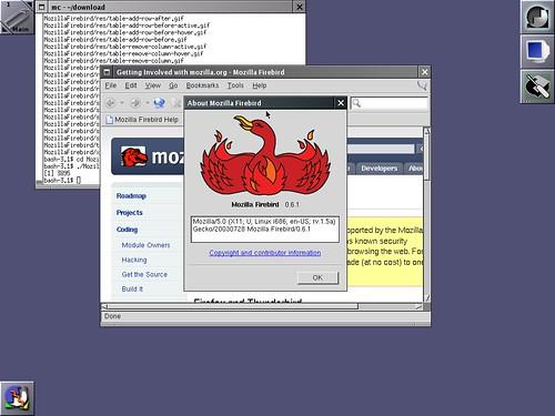 Firebird 0.6.1 sous Slackware Linux 12.0