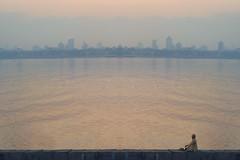 Sunrise in Mumbai (matamai) Tags: morning sea india seascape yoga sunrise cityscape awakening metro harbour peaceful bombay ritual meditation mumbai bandra indianculture peopleofindia earlymorningyoga inpursuitofpeace yogaatsunrise peacefulinthecity