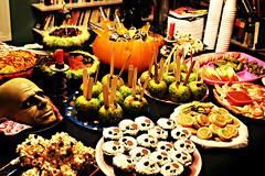 Dread Spread (2) (boopsie.daisy) Tags: decorations party food halloween cookies pumpkin skulls spread cupcakes bash candy spiders popcorn snacks buffet appetizers goodies soe munchies fingerfood candyapples blueribbonwinner popcornballs mywinners abigfave appies superbmasterpiece diamondclassphotographer flickrdiamond excellentphotographerawards theperfectphotographer