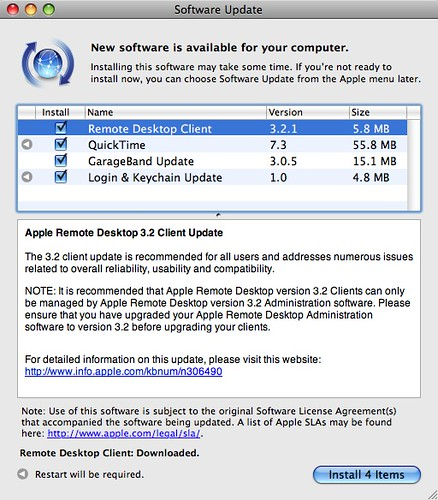 software updates for Leopard
